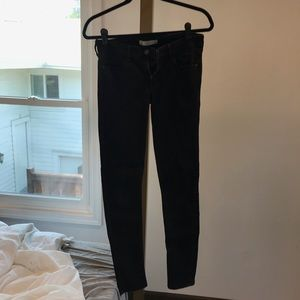 Abercrombie & Fitch black low waisted skinny jean
